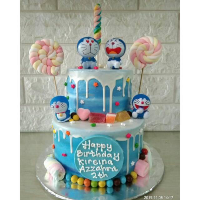 Doraemon Kue Ulang Tahun Tingkat Custom Cake Birthday Cake Nobita Doraemon Shopee Indonesia
