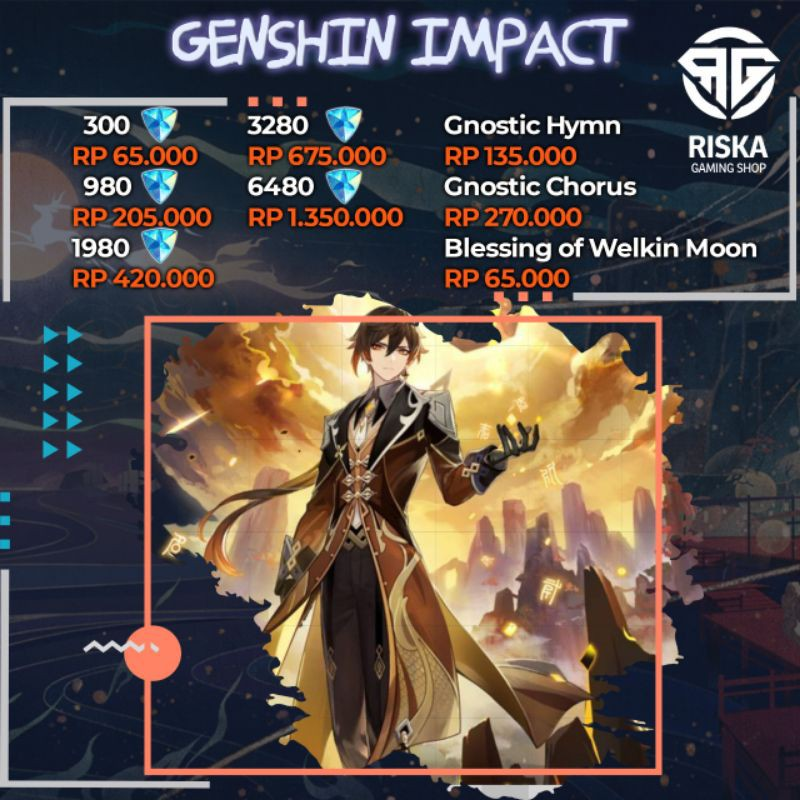 Genshin Impact Top Up Legal Via Login Android Ios Pc Ps4 Shopee Indonesia