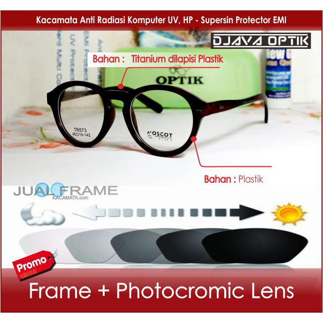 Frame Kacamata Minus Lensa Transition Photocromic Photogrey Kacamata Hitam  Pria Wanita Cewek Fashion  4089705f8d