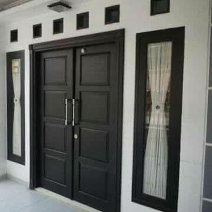 Set Pintu Utama Pintu Kupu Tarung Kayu Jati Kusen Pintu Rumah Shopee Indonesia