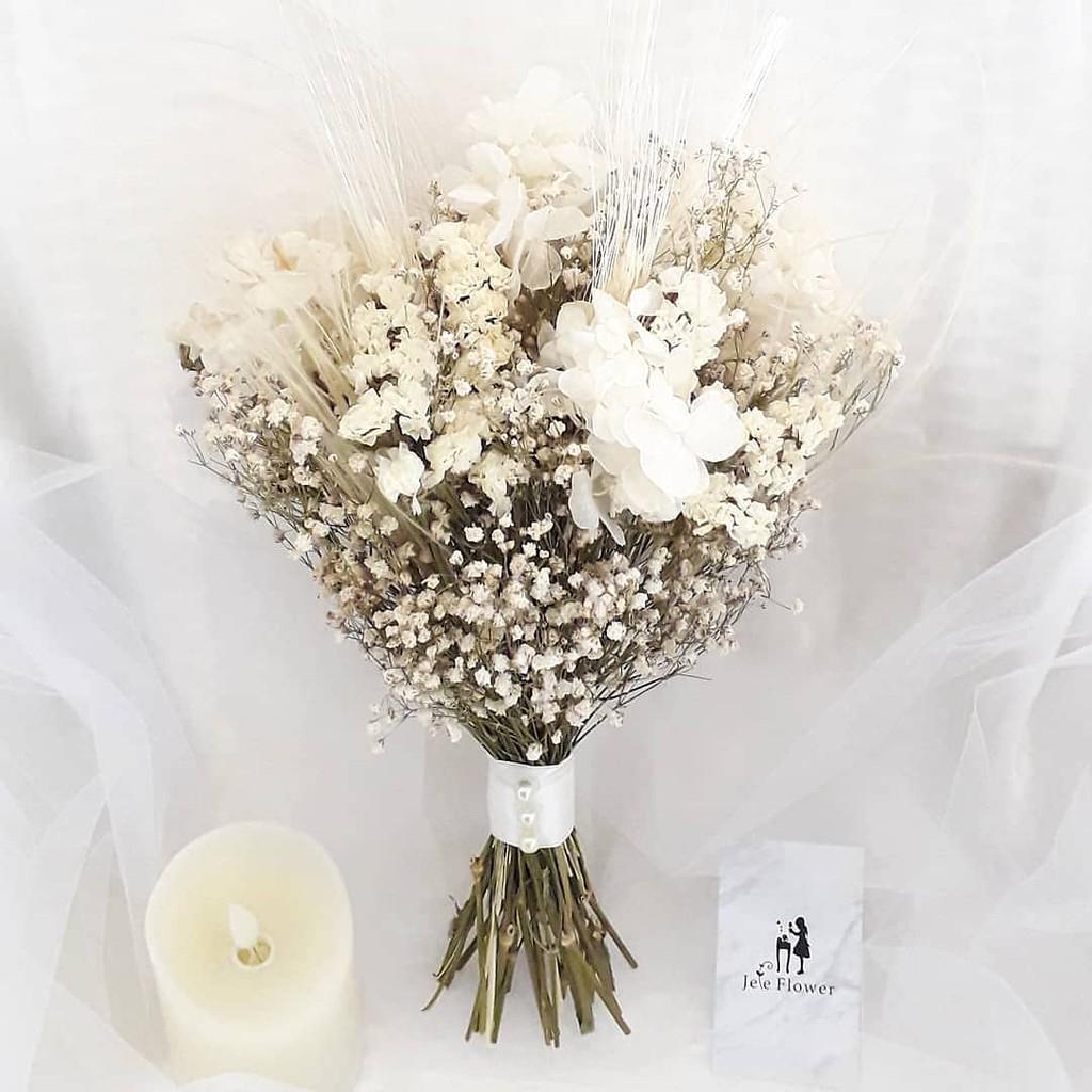 Natural Wedding Bouquet Buket Bunga Pernikahan Shopee Indonesia