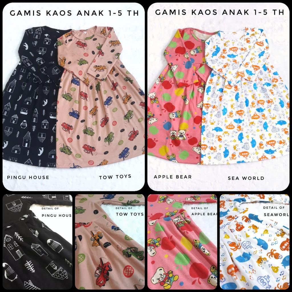 Gamis Anak Bahan Kaos Shopee Indonesia