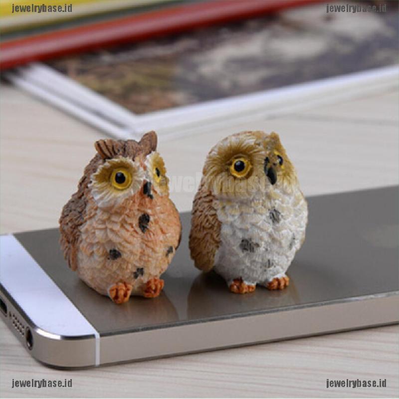Garden Owl Moss Terrarium Desktop Decor Crafts Bonsai Animals Miniature Diy L/_D