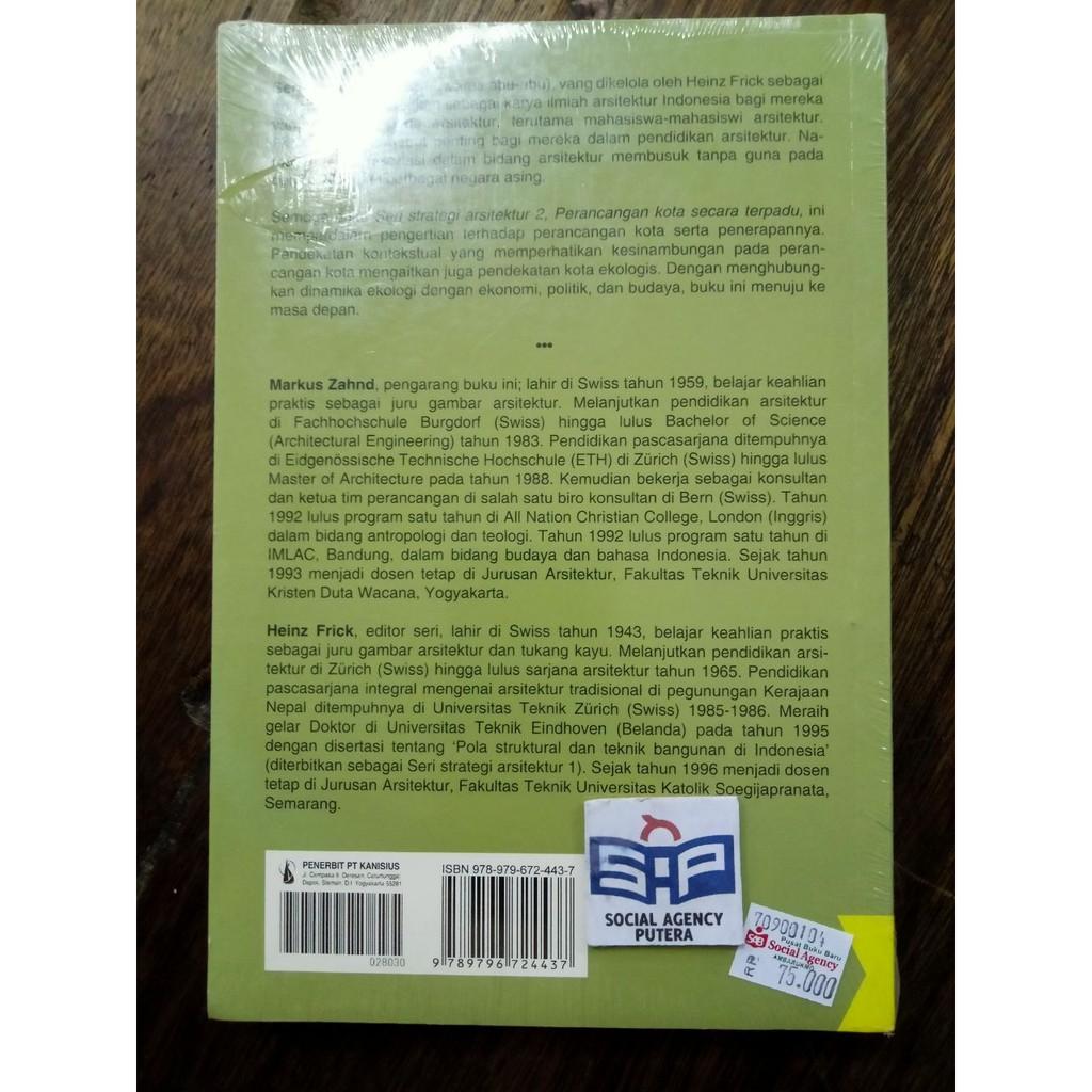 Buku Perancangan Kota Secara Terpadu Markus Zahnd Original Shopee Indonesia