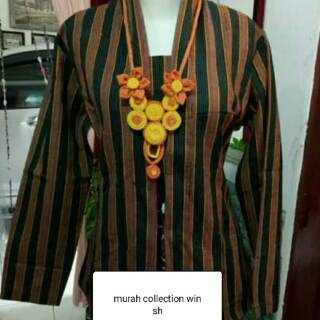 Baju Surjan Kebaya Lurik Cewek Shopee Indonesia