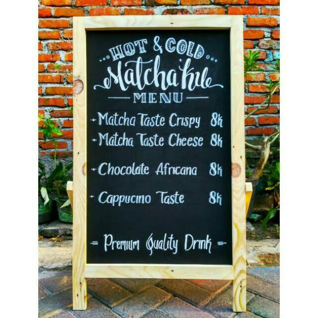 Standing Board 2 In 1 Chalkboard Papan Tulis Kayu Papan Tulis Kapur Papan Menu Papan Promo Shopee Indonesia