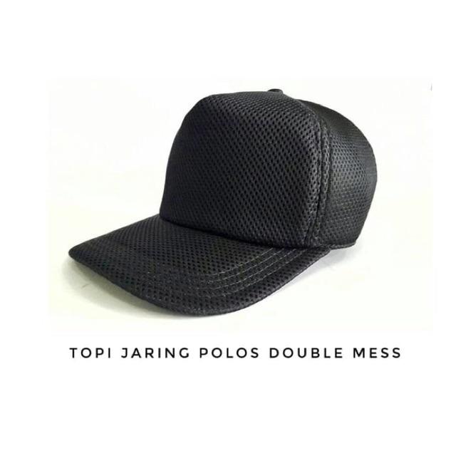 Topi Jaring Trucker Hitam Polos Grosir  5a364d3282