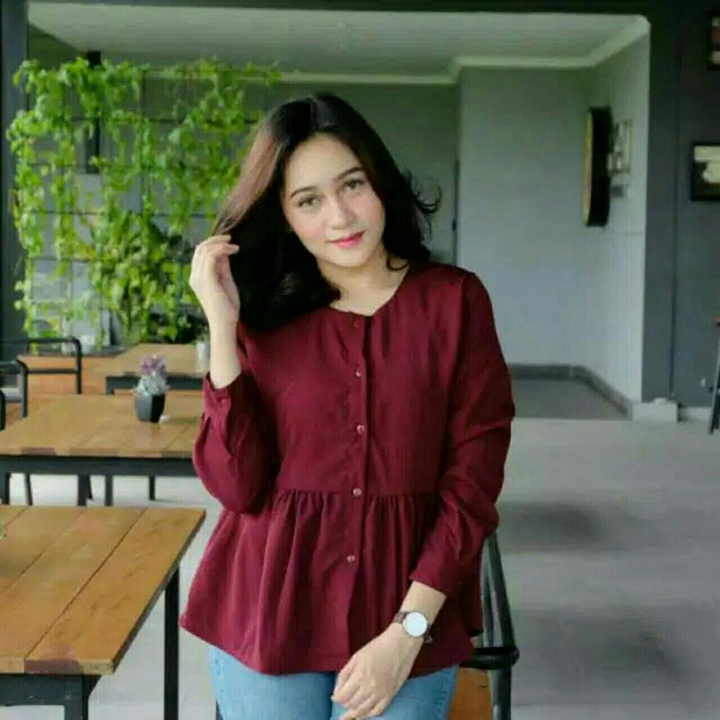 Blouse Jumbo Xxl Fit Xxxl Nolan White Katun Rayon Big Size Putih Safiya Merah Muda 3xl Bahan Ka Shopee Indonesia