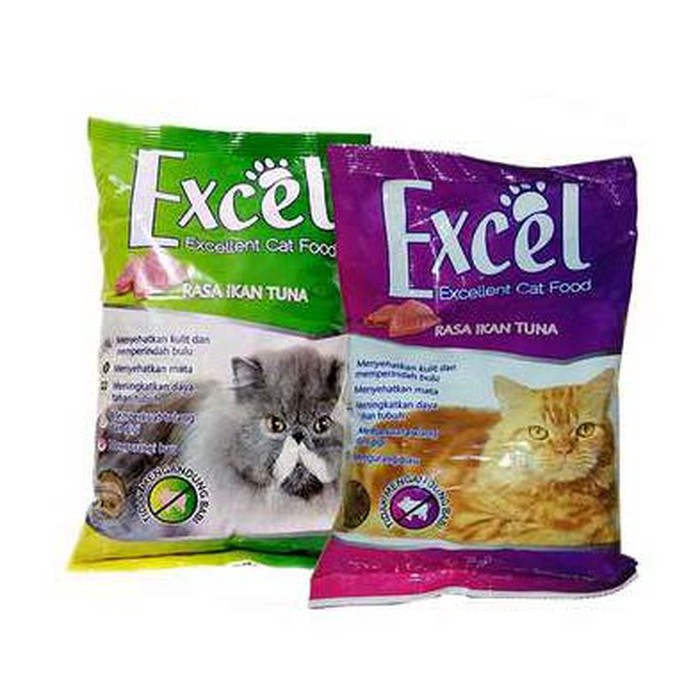 Isi 2 Makanan Kucing Excel | Makanan Kucing Anggora | Termurah | Pakan Kucing | Best Seller