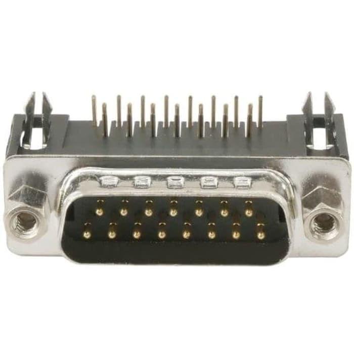 2x D-Sub 2 Row Serial Port Connector Socket Female Db15 Pin Pcb Plug 90° Plug