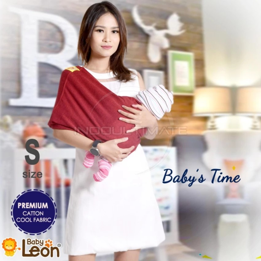 BABY LEON GENDONGAN Bayi Kaos/Geos/selendang Bayi Praktis BY 44 GB Polos Ukuran L - Navy Blue   Shopee Indonesia