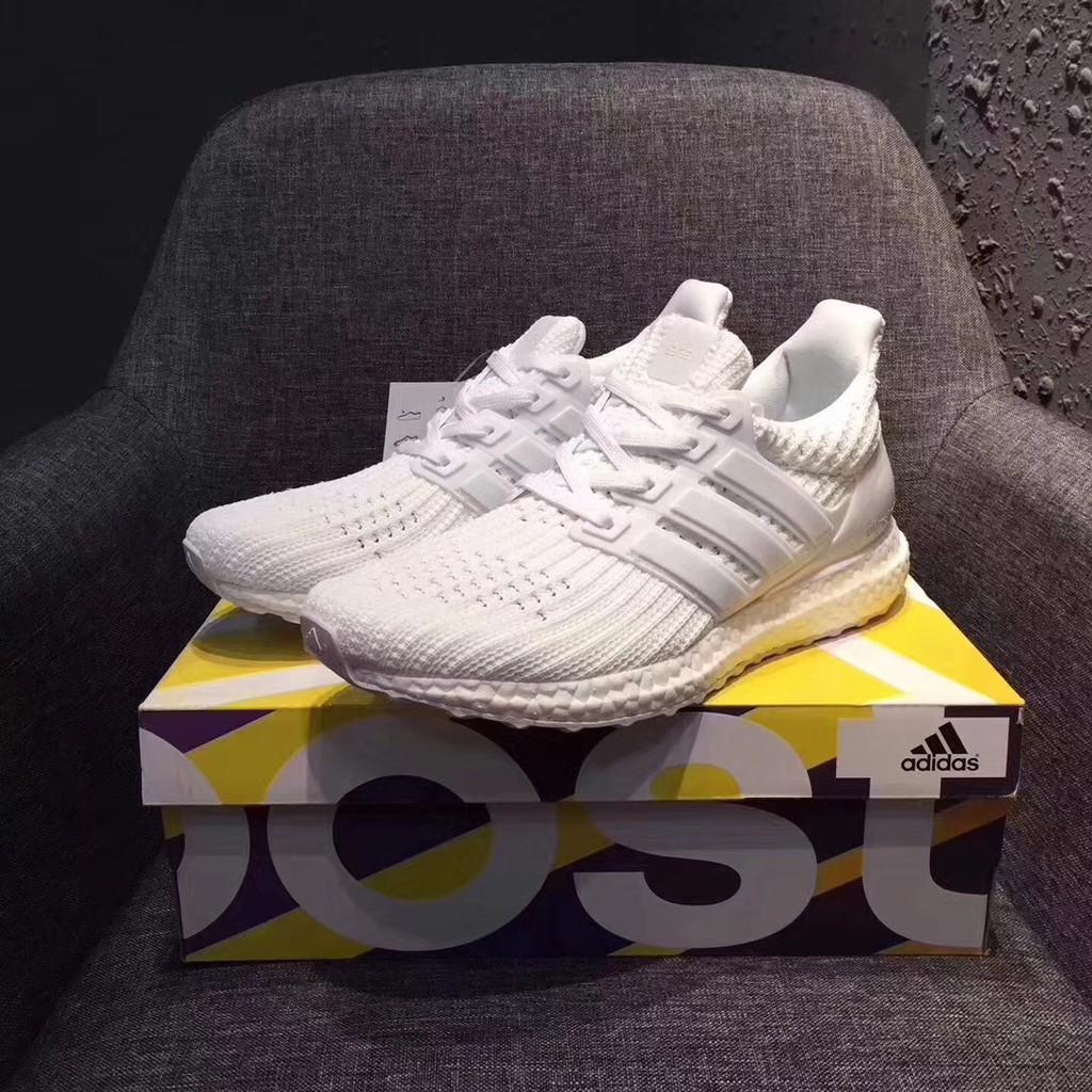 3b3defa56a3 Sepatu Sneakers Desain Adidas Real Boost 4.0 Warna Putih