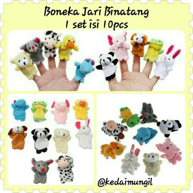 Boneka Jari Tangan BINATANG   ANIMAL (10 pcs set)  f240f4c74a