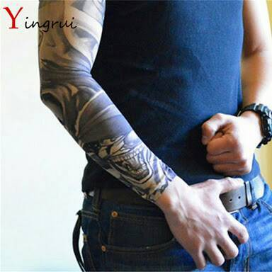 Hot Sale Manset Tangan Tato Arm Sleeve Tatoo Tangan Pria Motor Lengan Shopee Indonesia