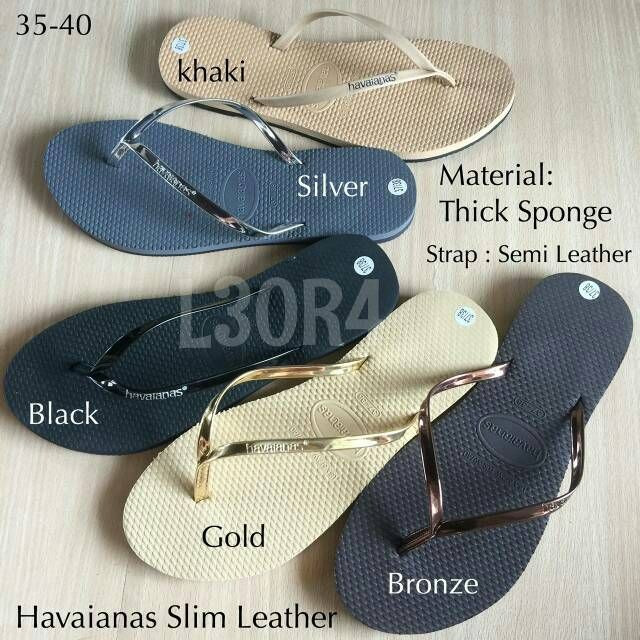 688a08bc4c3e3a Havaianas SLim Leather for women