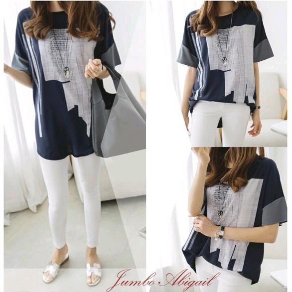 Baju Batik Wanita Ukuran Jumbo: Jumbo Abigail Blouse Baju Atasan Wanita Bigsize Baju Big