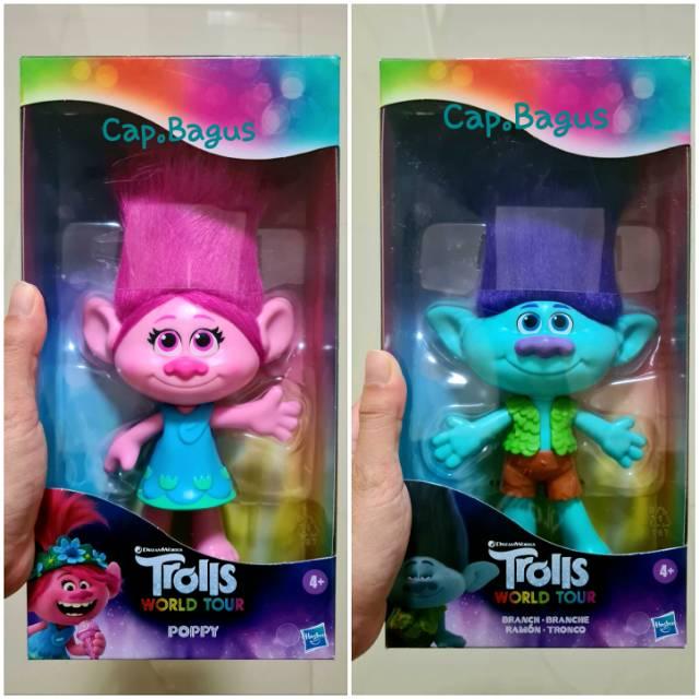 Boneka Trolls World Tour Music Poppy Branch Medium Doll Figure Troll Boneka Tiny Diamond Hasbro Shopee Indonesia