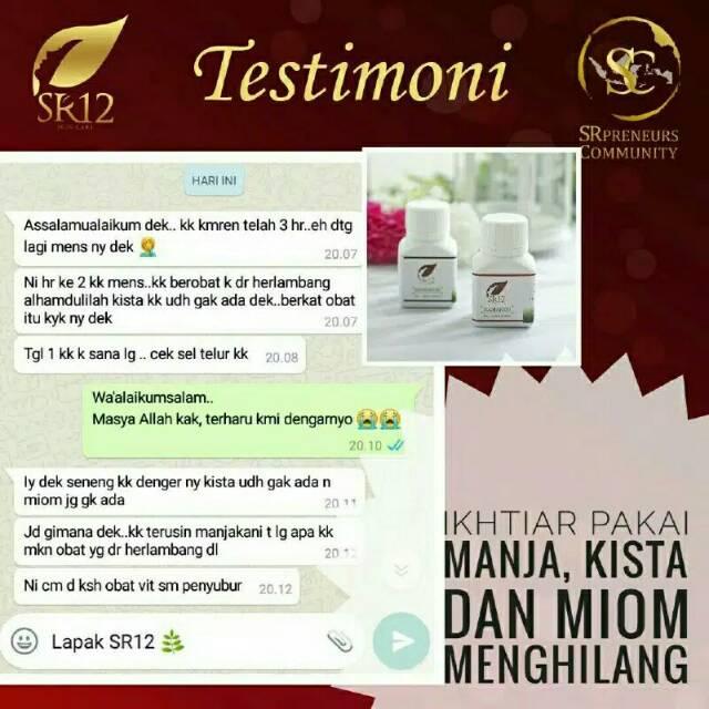 Manjakani Sr12 Mengobati Masalah Miss V Keputihan Miom Kista Mens Tidak Lancar Shopee Indonesia