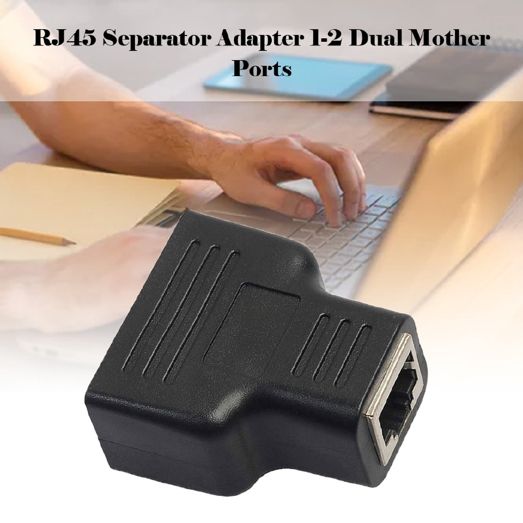 LAN Ethernet Network Cable RJ45 Splitter Extender Plug Adapter Connector WD