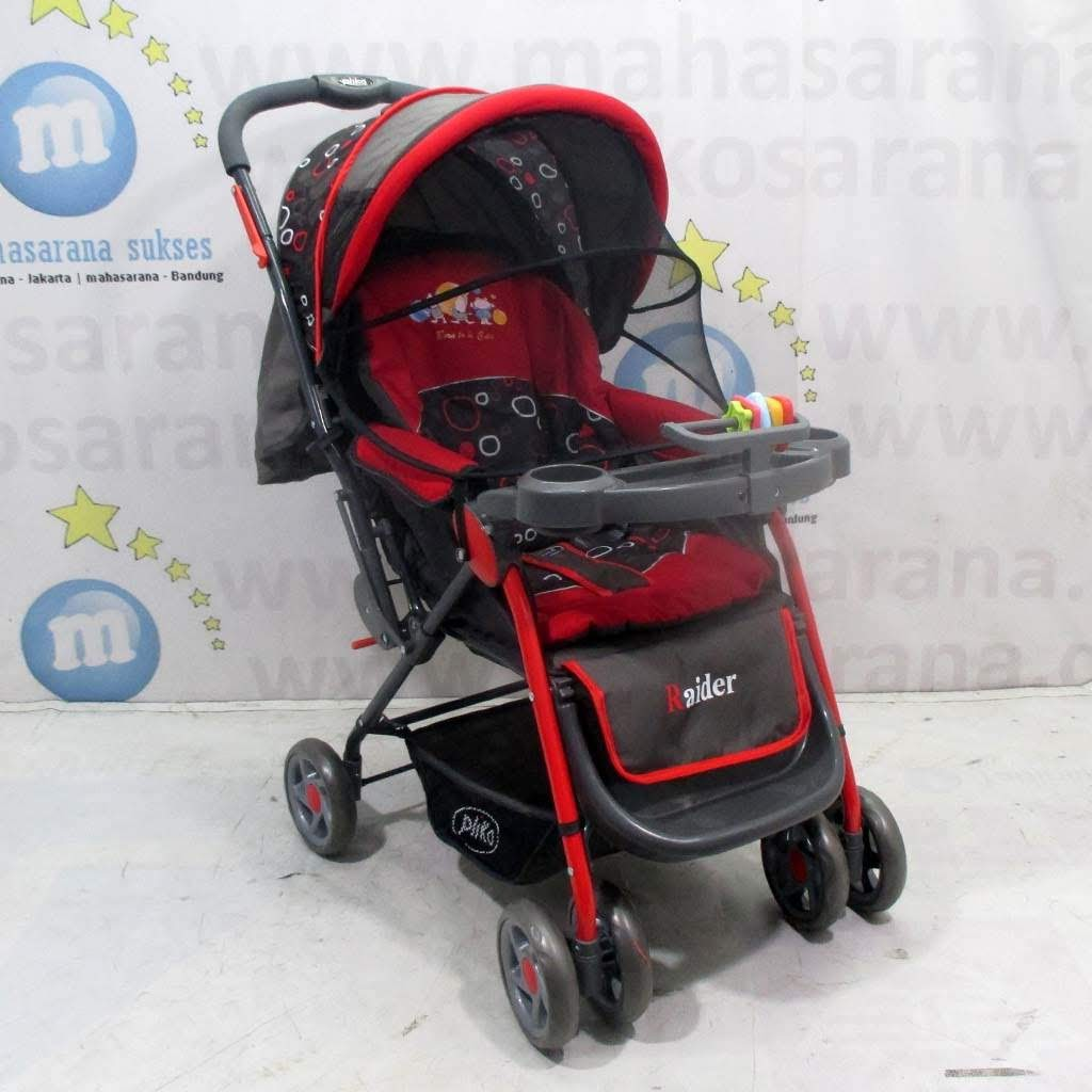 Kereta Dorong Bayi Stroller Pliko 618 London Red Shopee Indonesia Pusat Distributor Baby Strollers Milano Roda Tiga Praktis