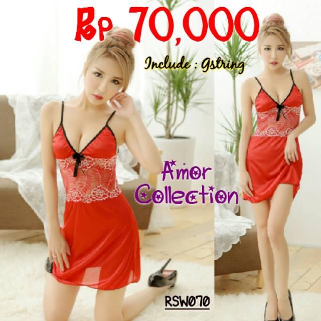 Lingerie seksi teddies set nipple merah (RSET052) By AMOR COLLECTION ... 8623a034f1