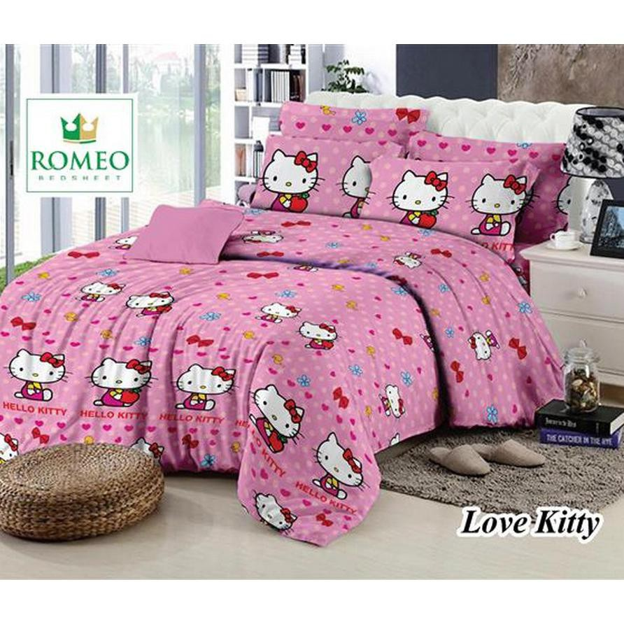 Best Romeo Seprai Anak Kitty Katun Import Uk 120x200 Pink Daftar Sprei  Single 339 401 Populer Terbaru Love