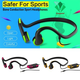 Sports Bone Conduction Wired Headphone Hands-free Stereo Headset for Phones Tablet | Shopee Indonesia