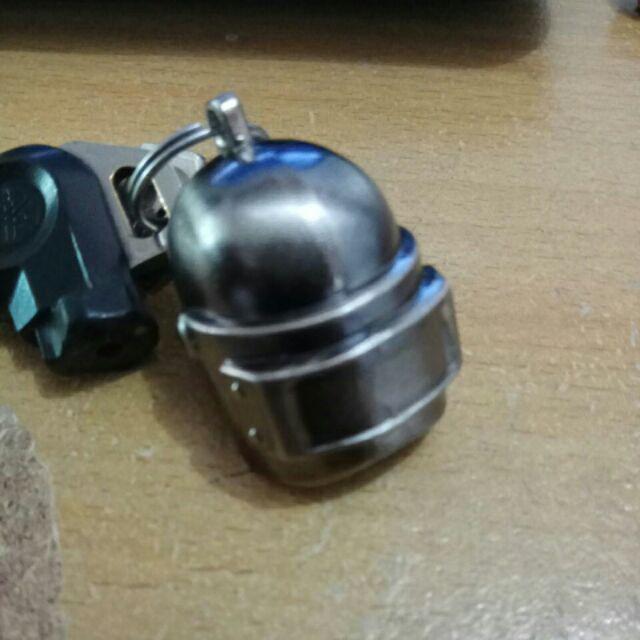 Fg Pubg Gantungan Kunci Desain Helm Game Battlegrounds Bahan Zinc