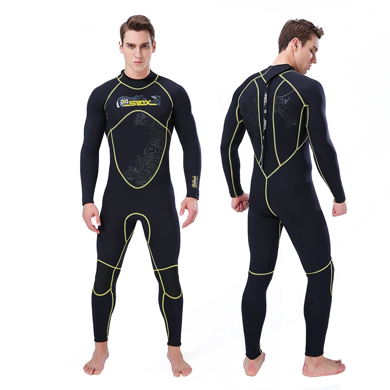 3mm Neoprene Mens Scuba Dive Wetsuit Spearfishing Surfing Diving Swimming