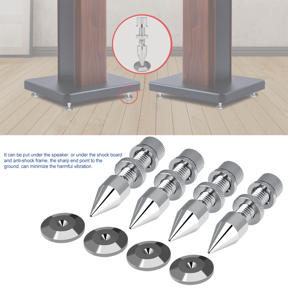 Isolation Spikes Set of 8 Speaker Cone Black Speaker Spike Stand Foot