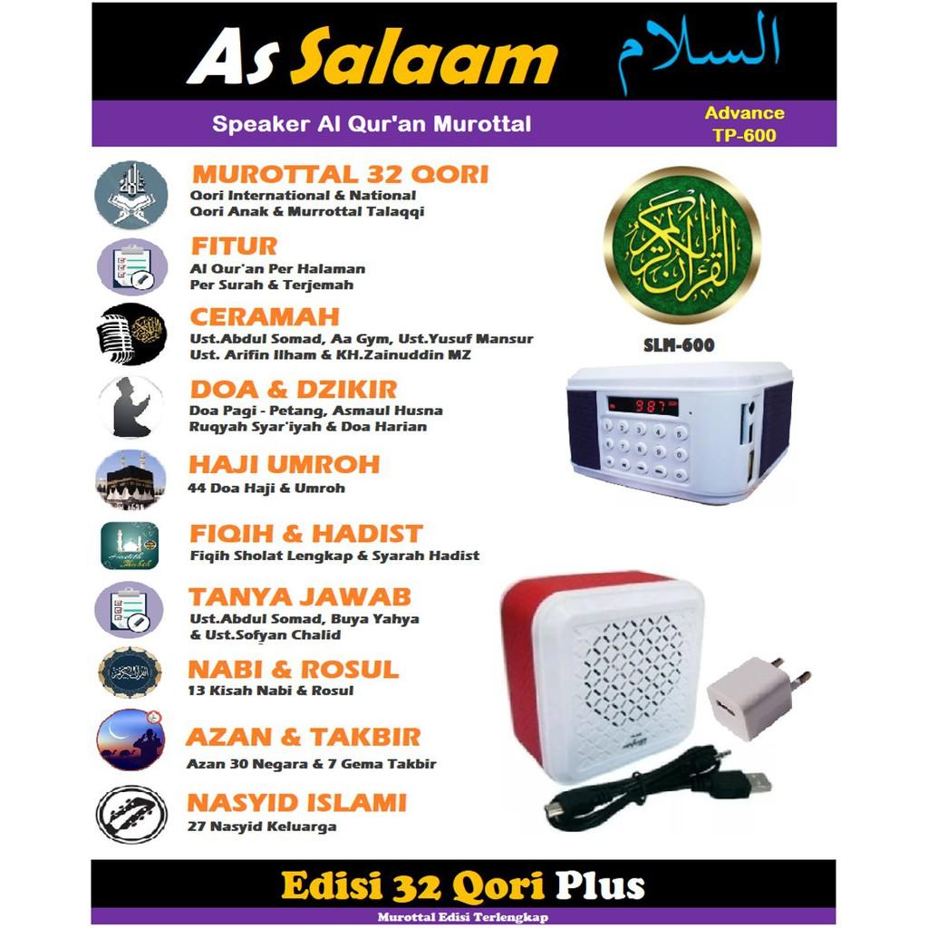 Tp600 Speaker Murottal Al Quran 20 Qori Model Tp 600 Shopee Indonesia 25 Radio