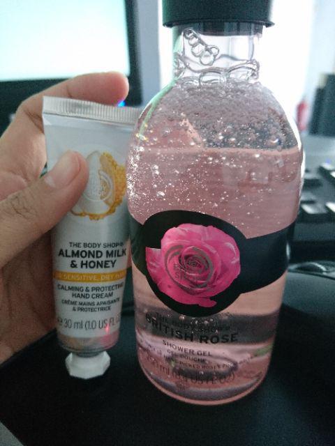 TBS The Body Shop British Rose Shower Gel 250 ml ORIGINAL