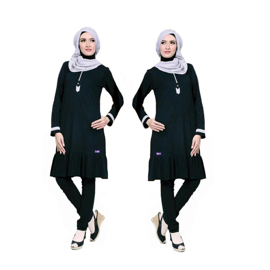 Mutif Kode 182 Shopee Indonesia M133 Atasan Dewasa Hitam Abu Misty