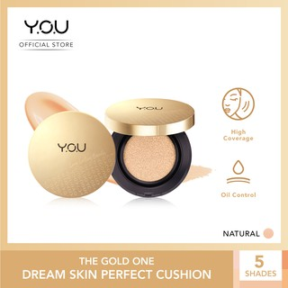 YOU - The Gold One Dream Skin Perfect BB Cushion [High Coverage / Brightening Effect / Oil Control]