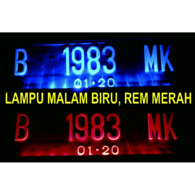 COVER TEMPAT DUDUKAN PLAT NO MOBIL BARU LAMPU LED AKRILIK | Shopee Indonesia