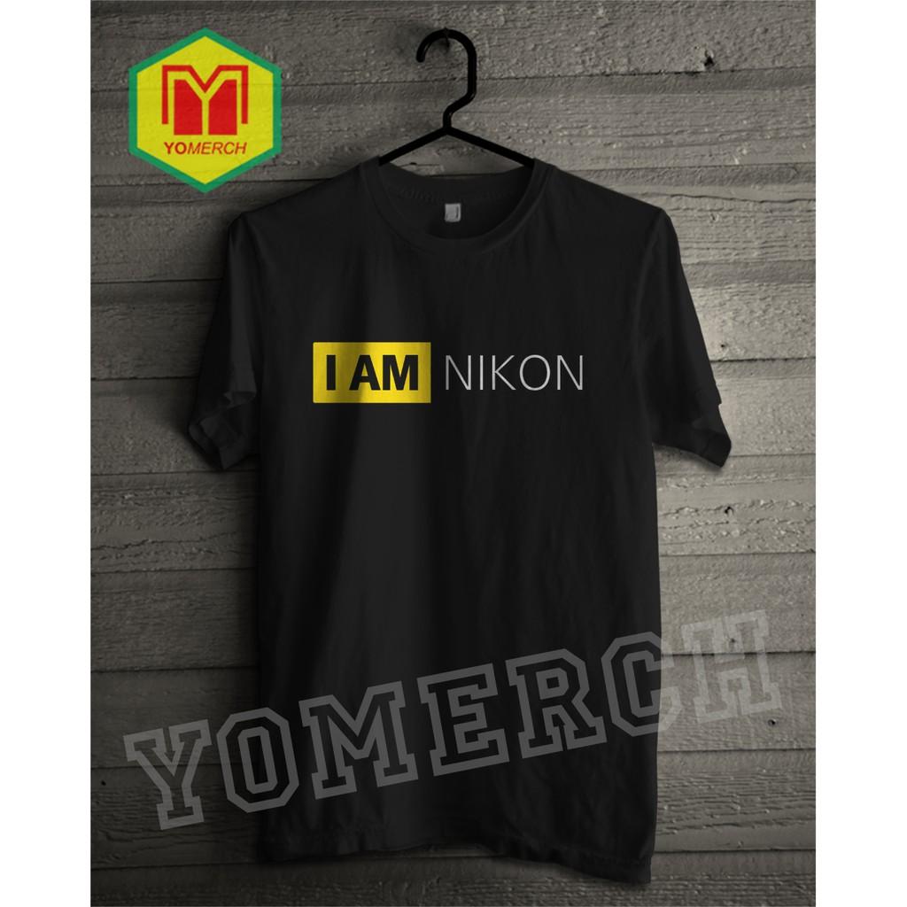 Tees Nikon Shopee Indonesia Damn I Love Kaos Pria Team White Putih Xl