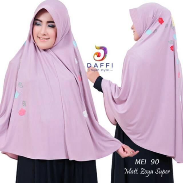 Kerudung Jilbab Khimar Syari Daffi Mei 90 Shopee Indonesia