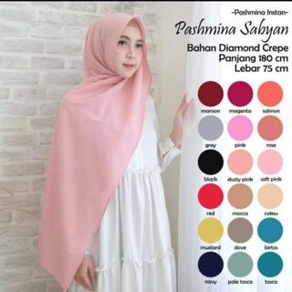 Pashmina Polos Bahan Ceruti Premium Shopee Indonesia