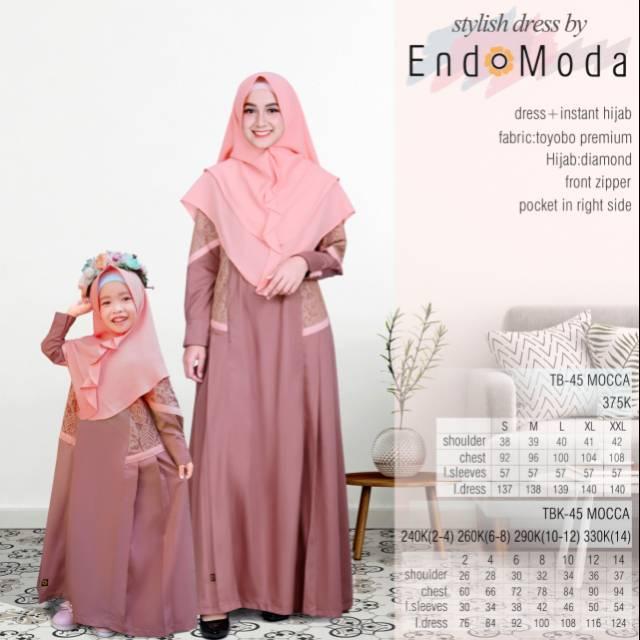 Busana Muslim Endomoda Gamis Set Tb 45 Seri Terbaru Reborn Set Khimar Shopee Indonesia