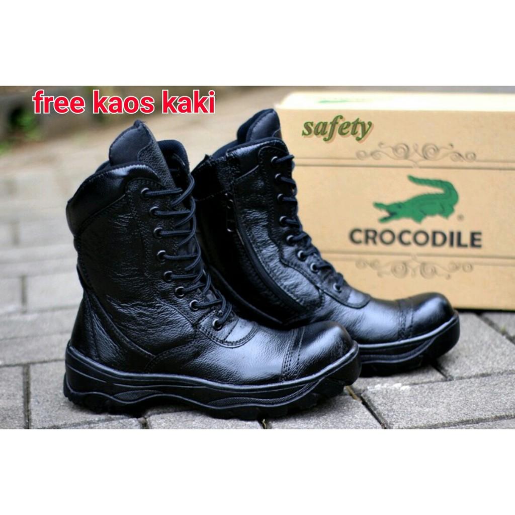 Baru Sepatu Pria Boots Safety Crocodile Pdl Tni Polri Whitelust El Hamlet Sandal Hitam 45 Cowok Termurah Shopee Indonesia