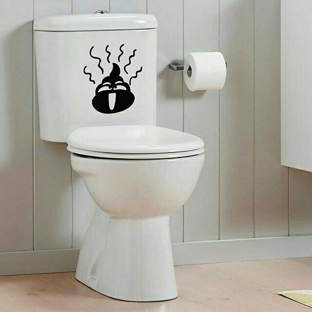 Sticker Toilet Cutting Poops