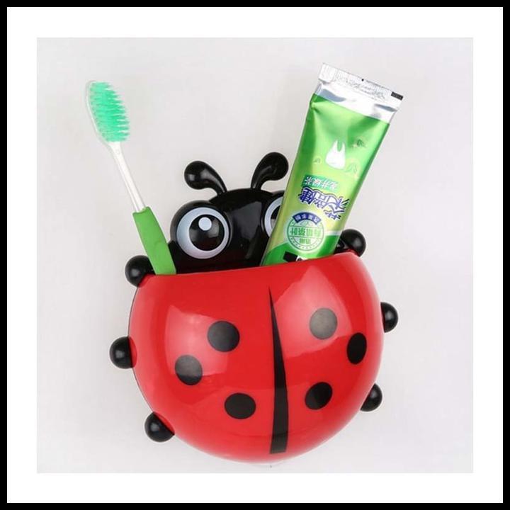 Ladybug toothbrush holder tempat sikat gigi odol motif kumbang HSP002   Shopee Indonesia