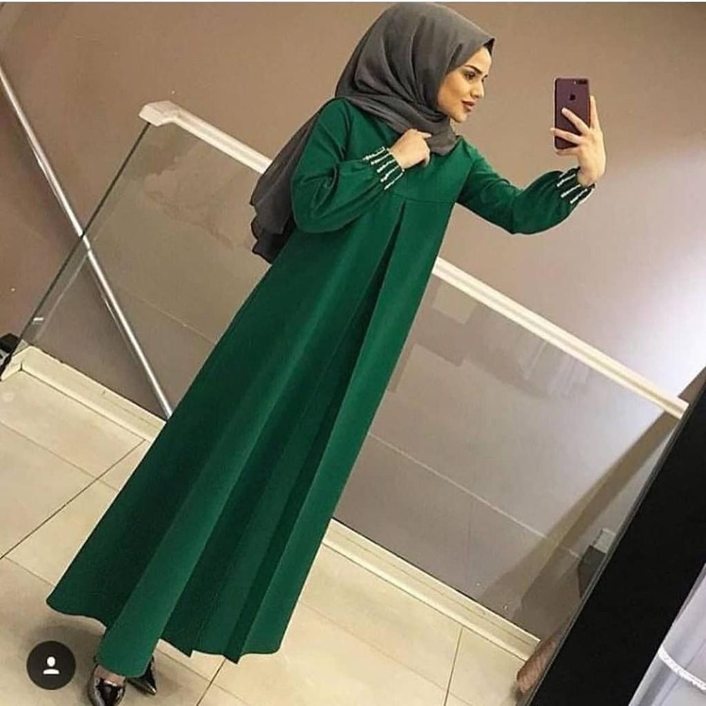 Damai fashion jakarta - dress muslim wanita CASANDRA salur - konveksi murah baju tanah abang   Shopee Indonesia