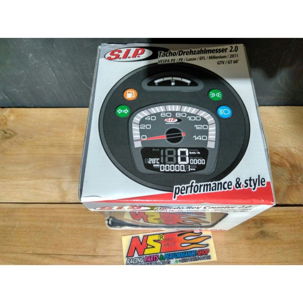 Speedometer Digital Sip Scooter Vespa New Px Shopee Indonesia