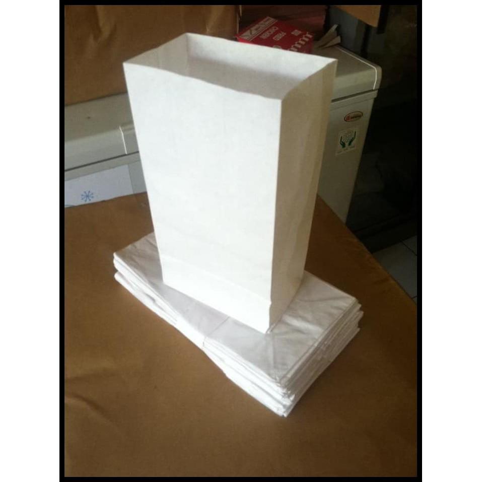 Paper bag/kantong kertas putih untuk roti kentang goreng fried chicken dan snack | Shopee Indonesia