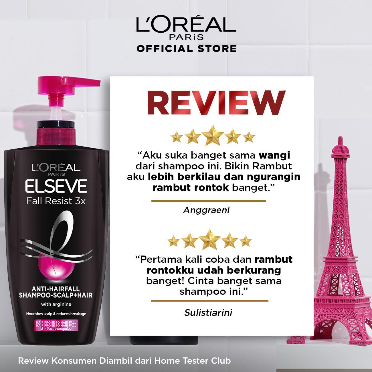 L'Oreal Paris Fall Resist 3x Shampoo Hair Care - 620 ml x3 Pcs (Perawatan Untuk Rambut Mudah Rontok)-1