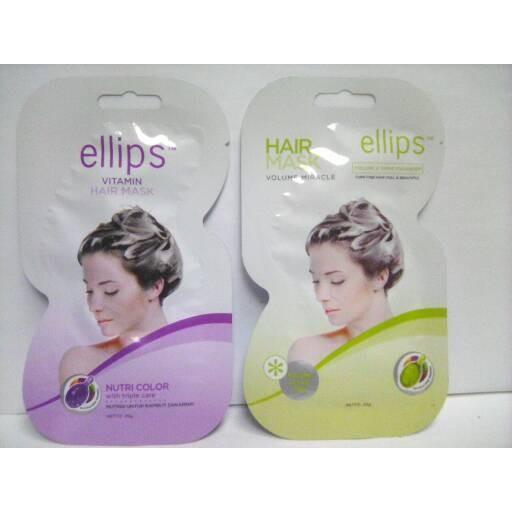 Ellips Hair Mask Masker Rambut Sachet 20gr Shopee Indonesia