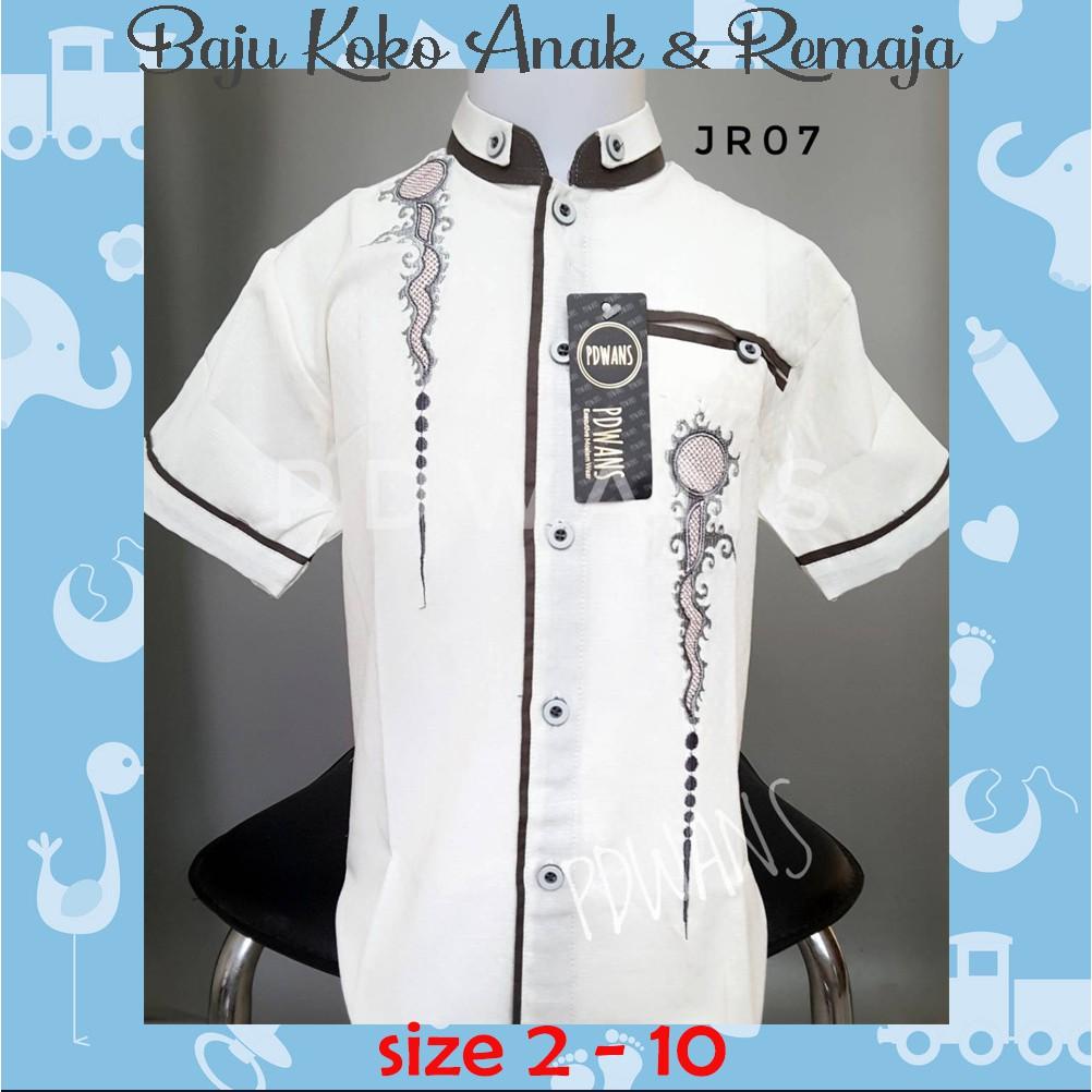 Baju Koko Anak Model Pakistan Lengkap Celana Peci Setelan Bordir Kids Happy Kode L Soft Blue Shopee Indonesia