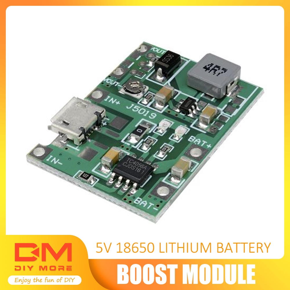 18650 LI-Ion Battery Charger and Dual USB 5V 2A Step Up Power Supply Module US