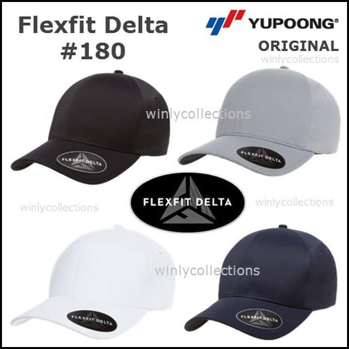 Topi Flexfit Delta 180 Built Up Yupoong Import Original  5adcfdce0a